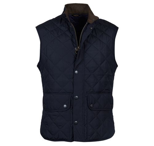 Lowerdale navy quilt waistcoat
