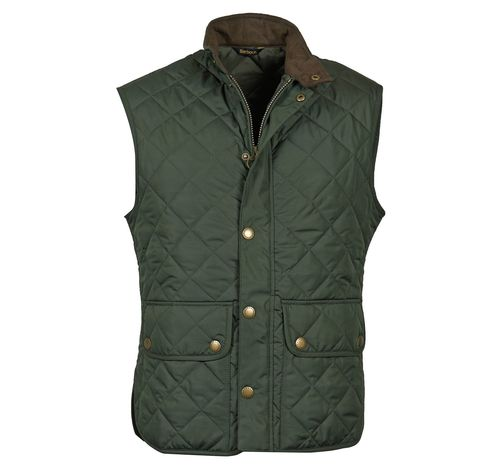 Lowerdale olive quilt waistcoat