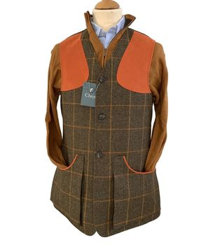Gilet tweed Moorland orange occhre