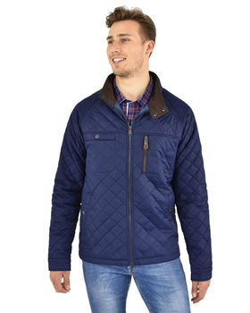 Newtown navy quilt jacket