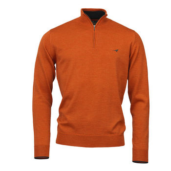Pull NORFOLK 1/4 ZIP MANDARIN