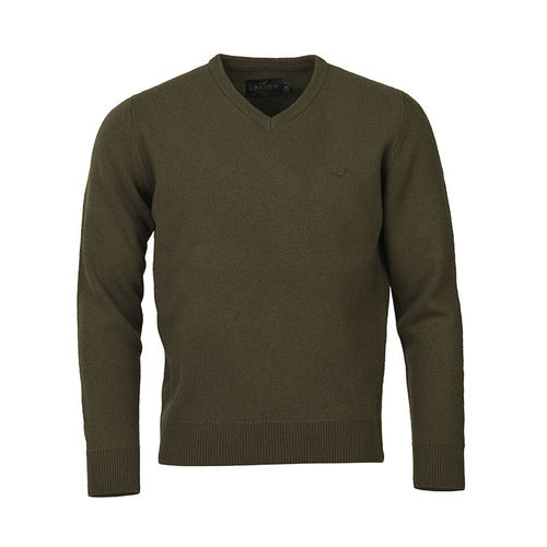 Johnston v-neck jade knitwear