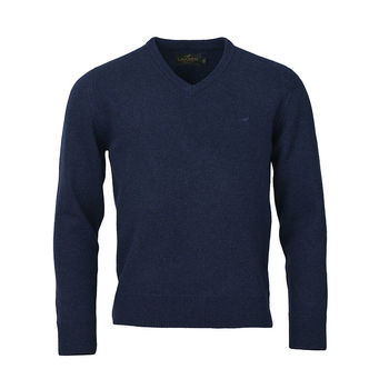 Johnston v-neck royal blue knitwear