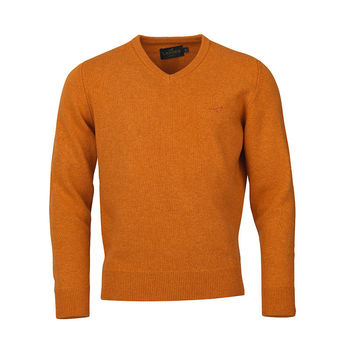 Johnston v-neck abricot knitwear