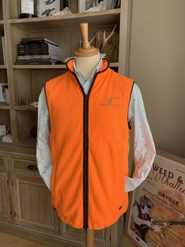 Norfolk orange Tweedchasse fleece vest