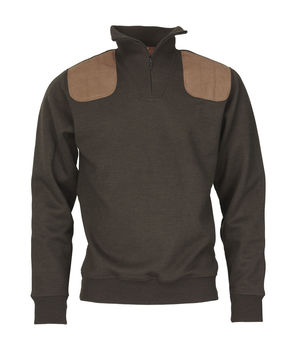 Sweat col zip WINDSOR Hazelnut