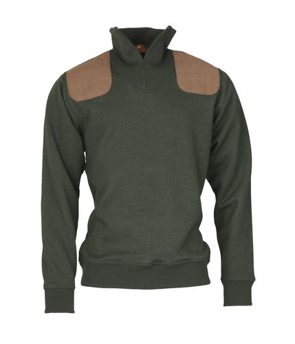 Sweat col zip WINDSOR Olive