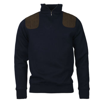 Sweat col zip WINDSOR Navy