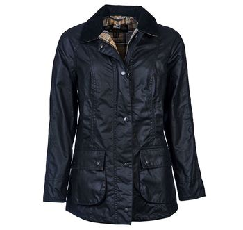 Lady Beadnell navy wax jacket