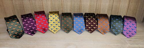 Thin faisant ties 8 colors