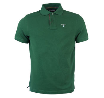 Tartan pique polo racing green