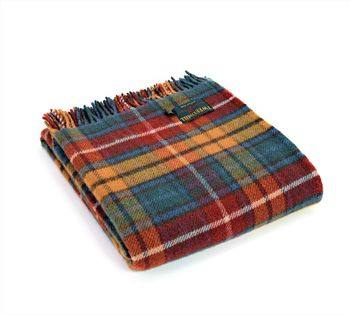 Buchanan tartan throw