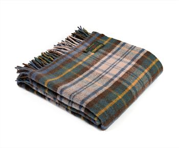 Antique dress gordon tartan throw