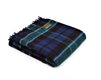 Antique Granham of Menteith tartan throw