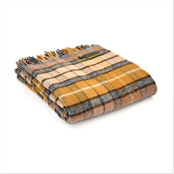 Natural Buchanan tartan throw