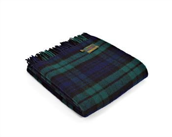 Blackwatch tartan throw