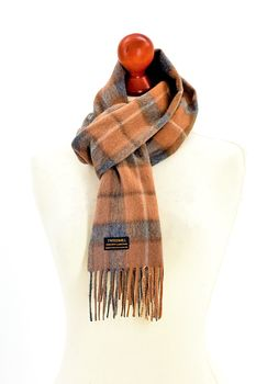 Rolled fringe Natural buchanan scarf