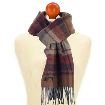Country check Arran scarf