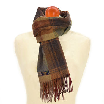 Country check Jura scarf