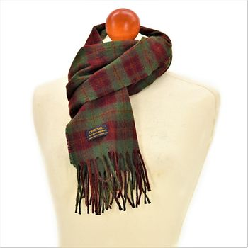 Country check Autumn scarf