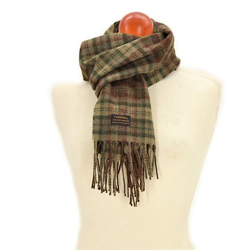 Echarpe country check Olive