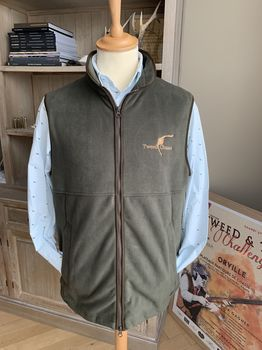 Norfolk green Tweedchasse fleece vest