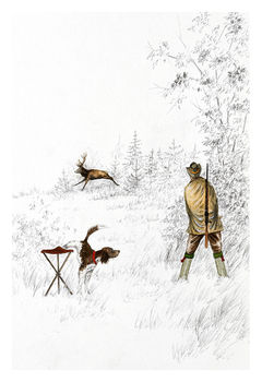 Print hunter and stag