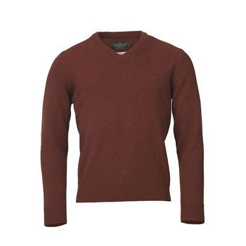 Johnston v-neck rusty knitwear