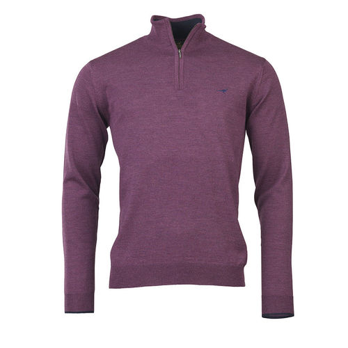 Pull NORFOLK 1/4 ZIP HEATHER