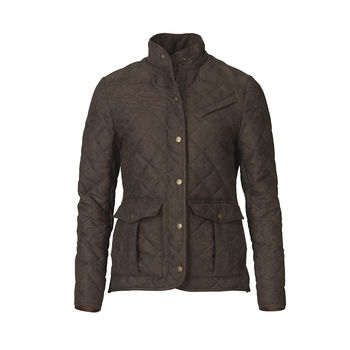 Hampton brown quilt ladies jacket