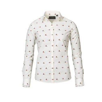 FLUSH cream ladies shirt