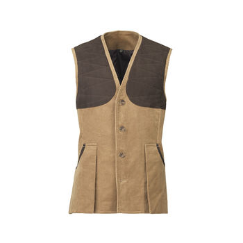 Mayfair cord vest camel