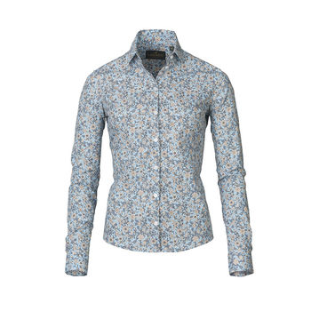 FLORA blue ladies shirt