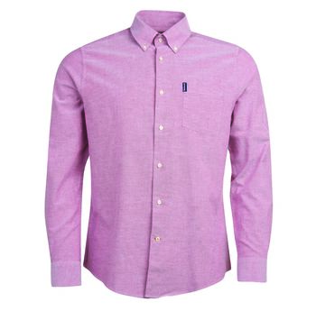 Oxford 1 merlot tailored shirt