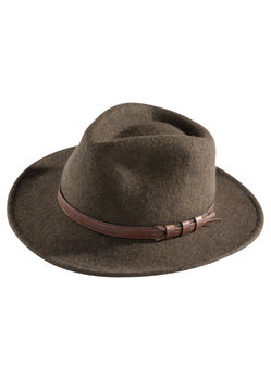 Brown men Richmond felt hat