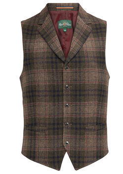 Gilet Surrey dos satin PLAID