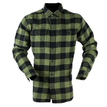 Classic checked green shirt