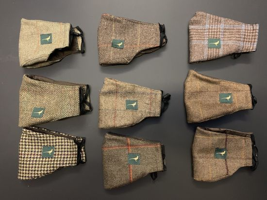 Tweed facemasks