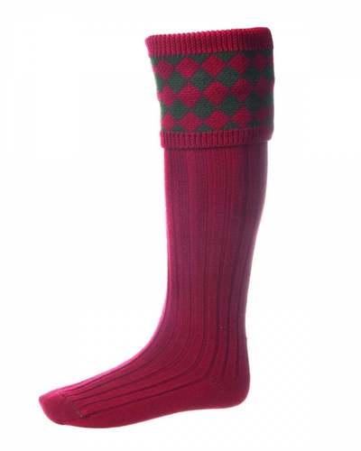 Chaussettes CHESSBOARD brick red spruce
