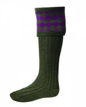 Chessboard socks spruce bilberry