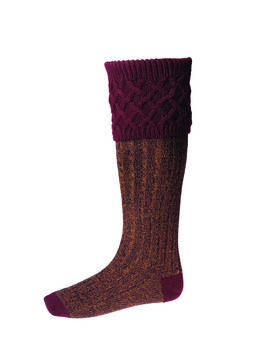 Chaussettes RANNOCH MOOR bungundy