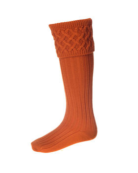 Rannoch breeks burnt orange socks