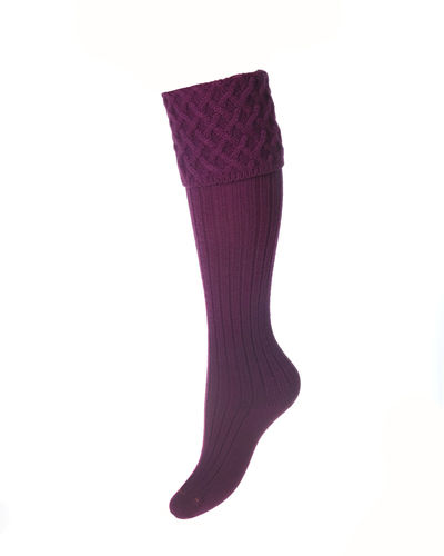 Chaussettes Lady RANNOCH bilberry