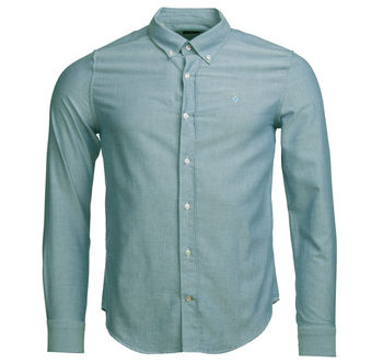 Oxford 3 tailored green shirt