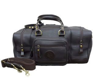 Sac tireurs cuir dark havana