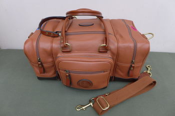 Tan leather range bag