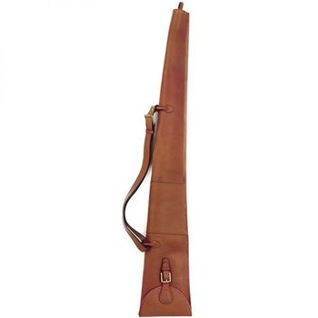 Mahogany leather shotgun slip