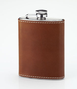 Mahogany pocket flask