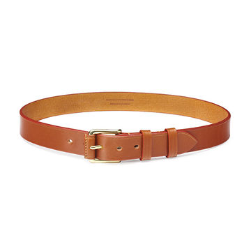 Honey leather belt