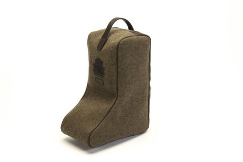 Hunting boots bag taupe canvas